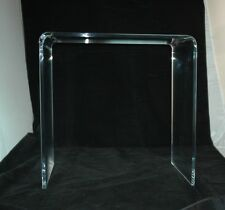 """Clear Acrylic Lucite 1/2"""" Thick Beveled Edge Desk or Console Table"""