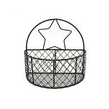 Wall Mounted Chicken Wire Storage Basket Rustic Rusty Hanging Wire Bin Organizer