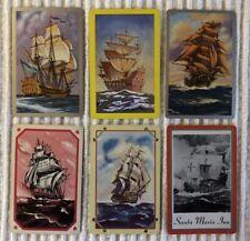 6 Vintage Playing Cards ~ Ancient Sailing Vessels ~Santa Maria Inn ~Extra Joker