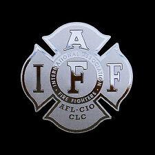 IAFF Firefighter Logo Emblem Metal Decal sticker laptop computer case modding SV