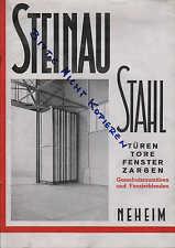 NEHEIM, Prospekt 1929, Steinau Stahltüren- und Fensterbau Stahl-Türen-Tore-Fenst