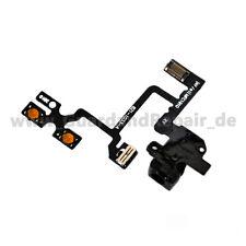 iPhone 4 Audio Jack Flex Kabel Kopfhörer Buchse Laut Leise Mute schwarz black