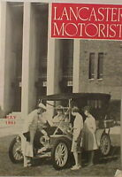 Vintage MAY 1961 LANCASTER MOTORIST MAGAZINE