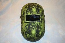 New Custom Honeywell Fibre-Metal 110PWE Pipeliner Welding Helmet/Hood Lime Hades