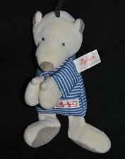 Peluche Doudou Ours Beige Bleu Rayé SIGIKID Schmusetuch Bear Bär Teddybär TTBE