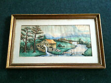 THE WATERWHEEL Painting by BERTHA HAMPTON signed 1923 Framed Matted