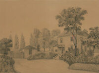 Early 20th Century Pen and Ink Drawing - Mrs Cotton's House at Welwyn, Herts