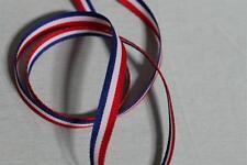 1 mètre Ruban gros grain bleu blanc rouge 10mm tricolore mercerie coupe du monde
