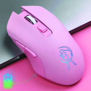 Anime Sailor Moon Wireless Mouse Girl Pink Office Laptop Game Mice Gift With Pad