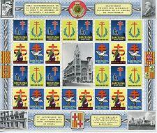ESPAGNE / BLOC TIMBRES VIGNETTES TUBERCULOSE / BARCELONA 1957