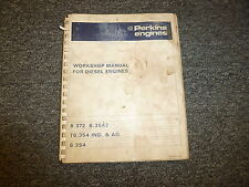 Perkins 6.372 6.354 T6.354 6.354 Diesel Engine Shop Service Repair Manual Book
