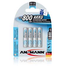 4 x Ansmann maxE Akku Micro AAA Ni-MH 1,2V / 800mAh für DUALphone 3088