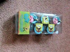 Spongebob Squarepants & Friends 12 Shower Curtain Hooks 2002 New In Package