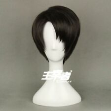 Attack on Titan Levi Wigs Black Short Cosplay Costume Anime Wig + Wig Cap