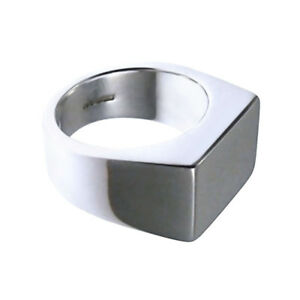 Sterling Silver Initial Signet Ring Men's Women's All Sizes 925 UK HM NEW & Box