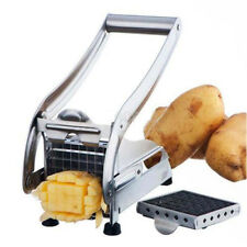 Stainless Steel French Fry Potato Cutter Maker Slicer Chopper Dicer + 2 Bla