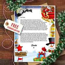 Personalised Christmas Letter From Santa Claus With Matching Envelope Design 1