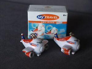My Travel Airways Twin Pack of Fun Plane Key Rings with Sound & Lights - New