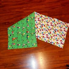 Handmade Quilted Table Runner Christmas Snoopy Peanuts Charlie Brown lights