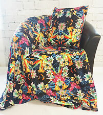 "I Fiori Tropicali & Birds of Paradise Design in Pile & corrispondenza 18"" Cuscino Set"