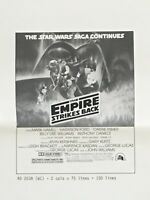Star Wars The Empire Strikes Back Original Media Press Movie Poster 8.5x11.5
