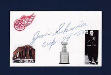 Jim Skinner signed Detroit Red Wings hockey index card 1917-2007