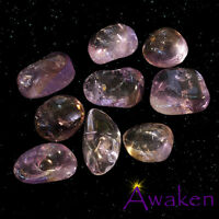*ONE* 'AMETRINE' (Amethyst/Citrine) Natural Tumbled Stone Approx 15-20mm *TRUSTE