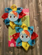 "My Little Pony~Rainbow dash~Pinky pie.2"" Hair Clips!!!Soo Cute.U pick 1 set."