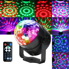 LED Magic Ball Stage Light Club RGB Rotating Disco Halloween Party Decor Light