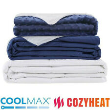 Weighted Blanket Cool max/Cozy heat and Two (2) Duvet Covers
