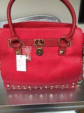 Precioso Candado/Tachonado Bolso Rojo
