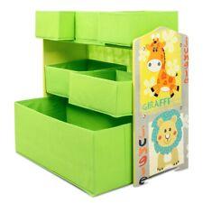 Estanteria mueble infantil madera habitacion niños 6 cajas tela juguetes