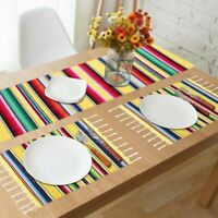 2Pcs Cotton Mexican Place Mat Dining Table Placemats Dinner Table Cover Decor