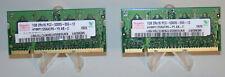 Hynix 1GB 2Rx16 PC2-5300S-555-12 RAM Laptop Memory (1GBx2=2GB) Tested Good!