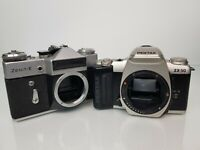 Bundle of Vintage 35mm Film Cameras; Pentax ZX-50 and ZENIT-E Cameras *Untested*