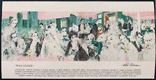"""POLO LOUNGE""  LeRoy Neiman Postcard Promo Art  *Authentic*"