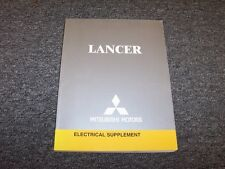 2005 Mitsubishi Lancer Electrical Wiring Manual Supplement ES Ralliart O-Z Rally