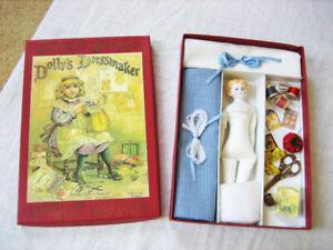 DOLLY'S DRESSMAKER Porcelain Doll Kit ROSEMARIE SNYDER, UFDC 2004 Raphael Tuck