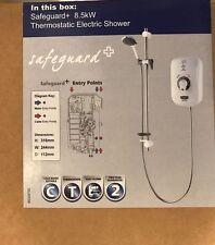 Triton CSGP08W Safeguard Plus 8.5kW Thermostatic Electric Shower  White & Chrome