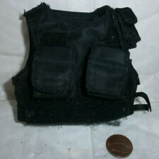 21st century black tactical vest 1/6th scale toy accessory