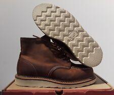"RED WING MEN'S HERITAGE 6"" CLASSIC MOC TOE COPPER ROUGH & TOUGH BOOT 1907 SZ:9.5"