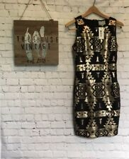 Anthropologie NWT Skies Are Blue Sequin Aztec Dress S