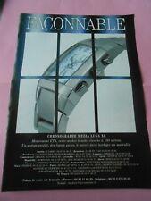 Publicité 2001 Montre Façonnable Chronographe Mezza Luna XL