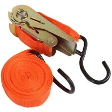 4.5m RATCHET TIE DOWN STRAPS Security Holding Roof Rack Trailer Car Luggage