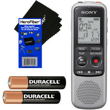 Sony ICD-BX140 MP3 4GB Digital Voice IC Recorder + 2 AAA Batteries + HeroFiber