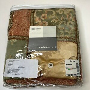 JCPenney Home collection one valance curtain chateau valance NWTS 80x20 tan