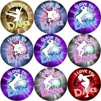 144 I Love to Dance 30 mm Reward Stickers for School Teachers, Parents, Nursery