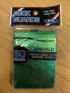 BCW 50 Count Deck Guard Small Card Protector Sleeves RARE EMERALD Green