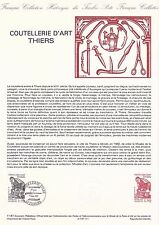 Document Philatélique Timbre 1er Jour : 07/03/ 1987 - Coutellerie d'Art Thiers