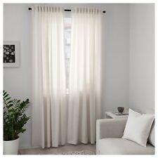 Ikea Curtains and Blinds Bedroom Living Room Window Sheer Panels 250x145cm Beige